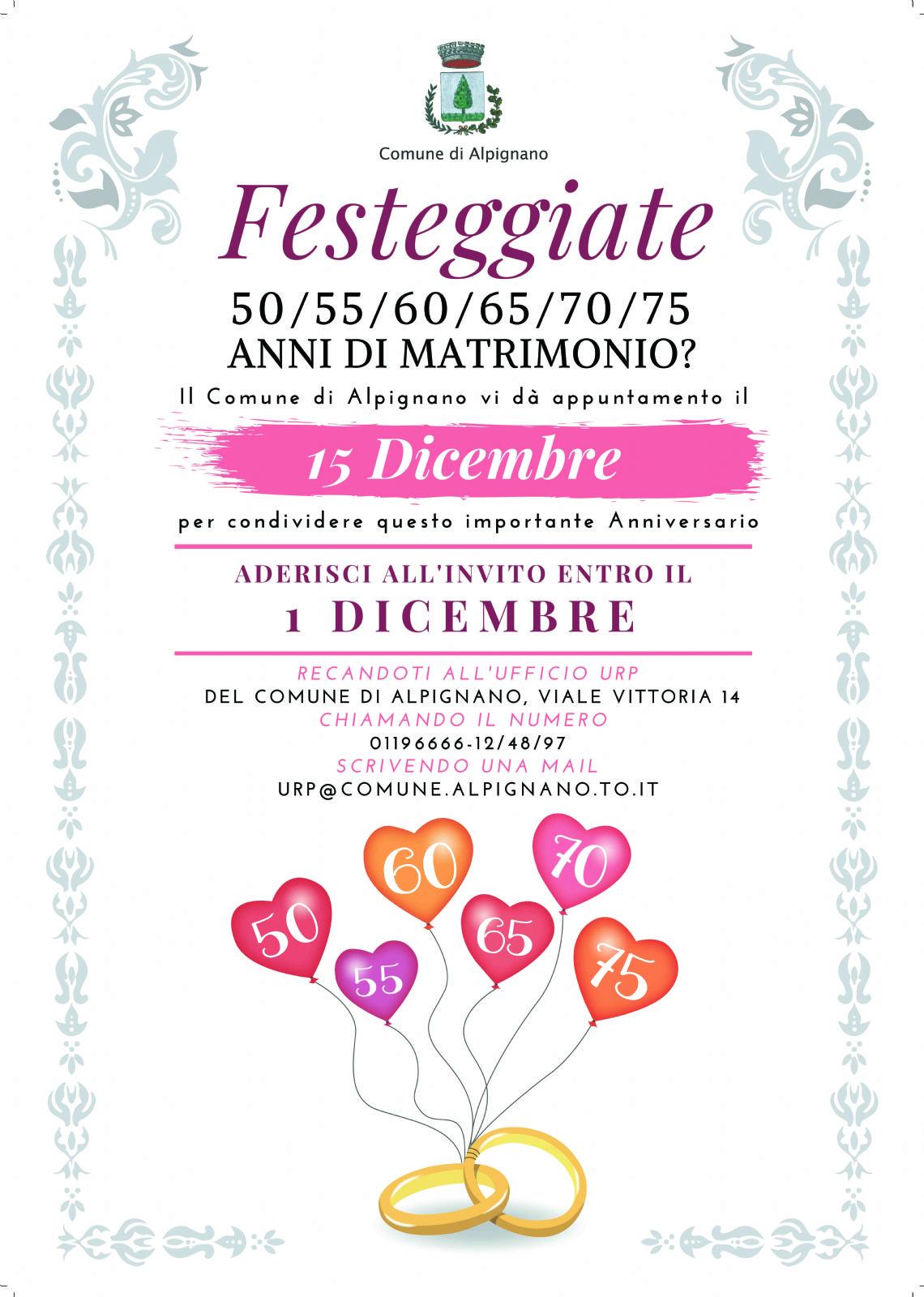 70 Anniversario Di Matrimonio.Festeggia Con Noi Il Tuo Anniversario Di Matrimonio Municipality