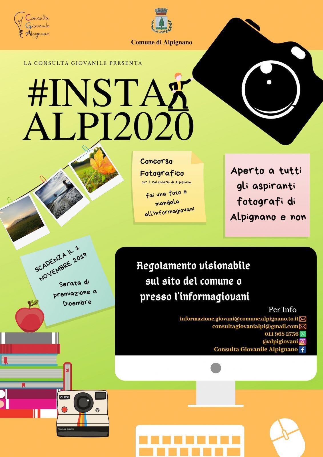 Calendario Fotografico 2020.Concorso Fotografico Insta Alpi Per La Realizzazione Del